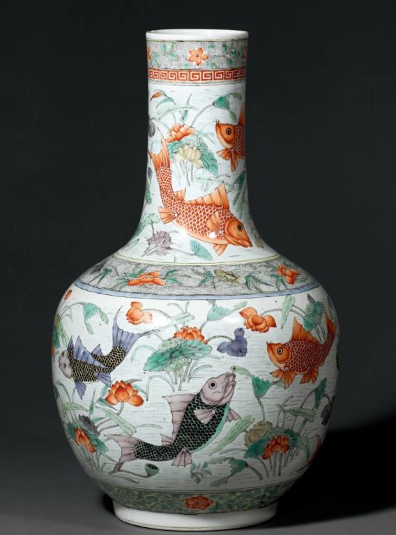 誠軒20秋拍瓷器工藝品:魚皆可得