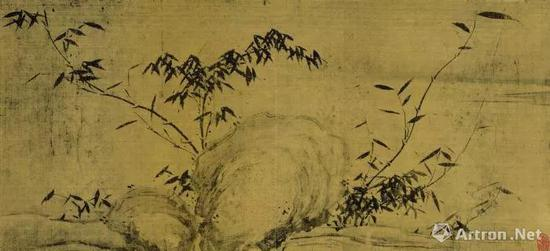 宋 苏轼《潇湘竹石图》