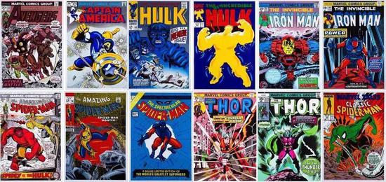 斯坦·李(Stan Lee)漫威超级英雄漫画封面