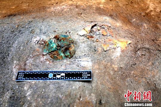 卜甲出土位置。陕西省考古研究院供图