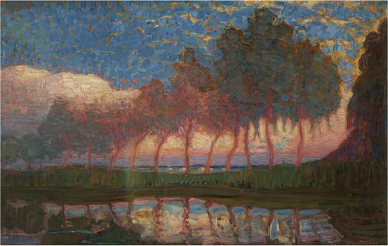 《夏日》Summer Day,1908 Collection Museum de Fundatie, Zwolle and Heino/Wijhe, The Netherlands© Mondrian/Holtzman, 2020