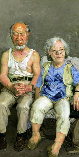 金婚(油画)2008年忻东旺