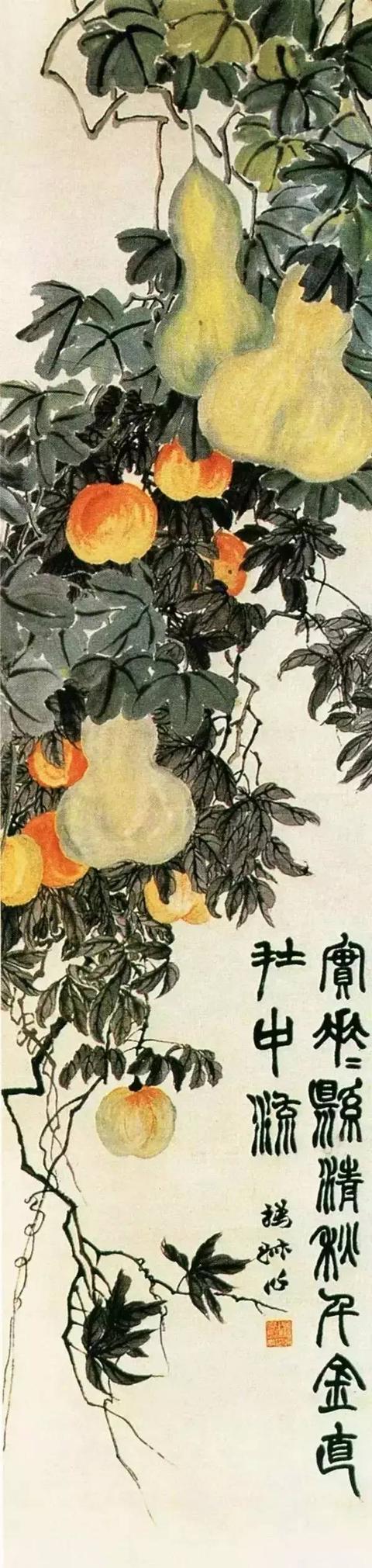 """三屏题:""""实花花悬清秋,千金直在中流。撝叔作。"""""""