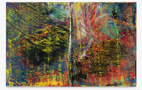 格哈德·里希特《抽象画》布面油画 两部分:260 x 401cm 1987年