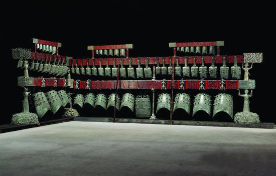 曾侯乙编钟原件,湖北省博物馆藏