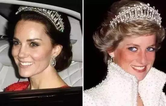 凯特王妃和戴安娜王妃都曾佩戴The Cambridge Lover's Knot冠冕