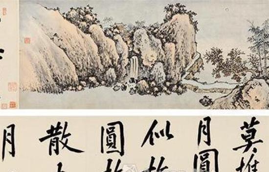 《有竹庄中秋赏月图》局部