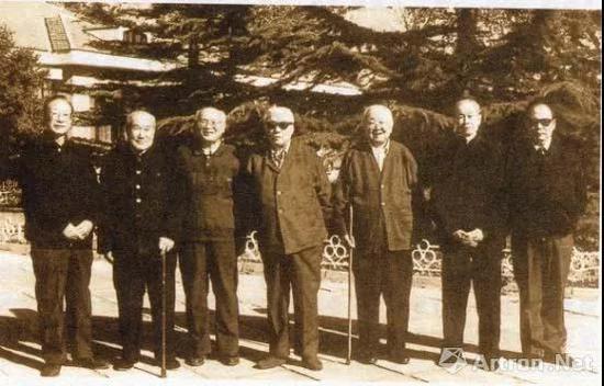 1980年代的中国古代书画鉴定组成员