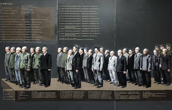 巨幅长篇油画《东京审判》局部