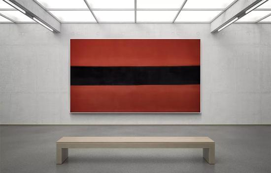 林寿宇《15-7-58》 1958 年作 油彩画布 122 x 215 cm。 成交价:HK$ 7,080,000