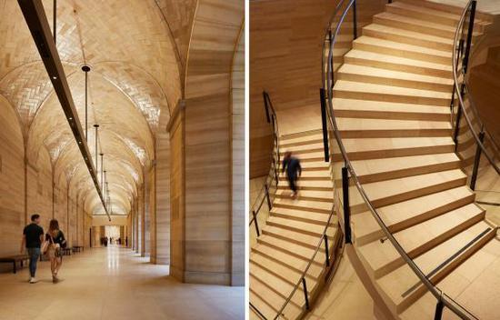 左:有圆顶的步道 右:皮拉内西(Piranesi)式的蜿蜒阶梯图:Steve Hall, via Philadelphia Museum of Art