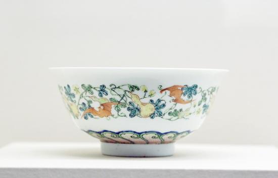 雍正珐琅彩福禄万代瓷碗,中国国家博物馆藏