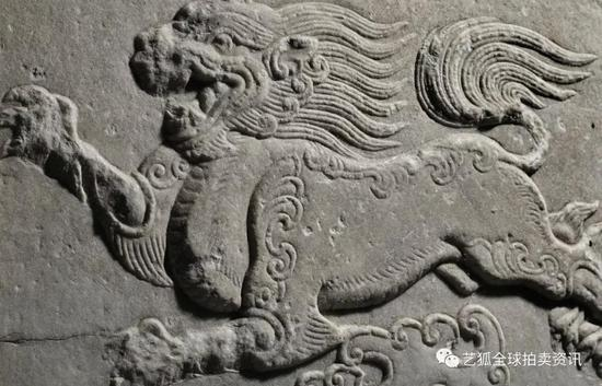 Lot 2唐 大理石雕象首残像