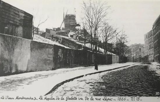 1886年从勒皮克大街的文森・梵高住所远眺煎饼磨坊