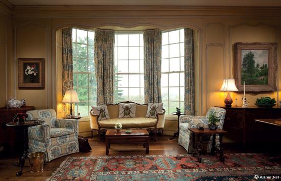 大卫·洛克菲勒家的客厅