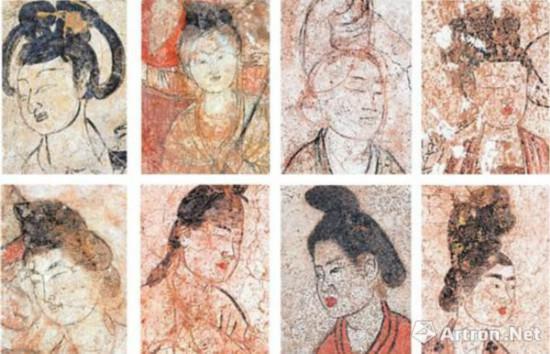 唐壁画仕女形象
