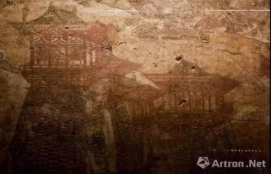 唐 懿德太子墓 建筑壁画