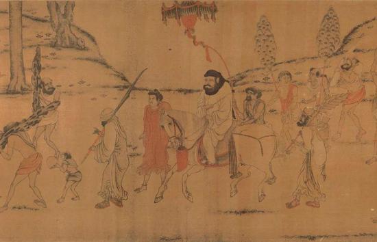 唐 阎立本绘《职贡图》(局部) 现藏台北故宫博物院