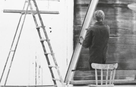 1994年,艺术家在工作室
