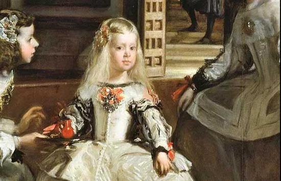 作正下方的小女孩是西班牙国王腓力四世之女,年仅五岁