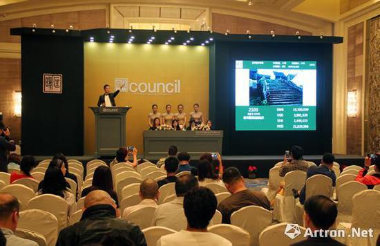 北京匡时现当代艺术板块拍卖现场