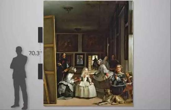 人物描画近乎真人大小,尺寸为152.2 x 108.7英寸,尺幅巨大
