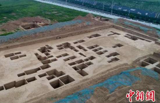 秦墓发掘现场。陕西省考古研究院 供图
