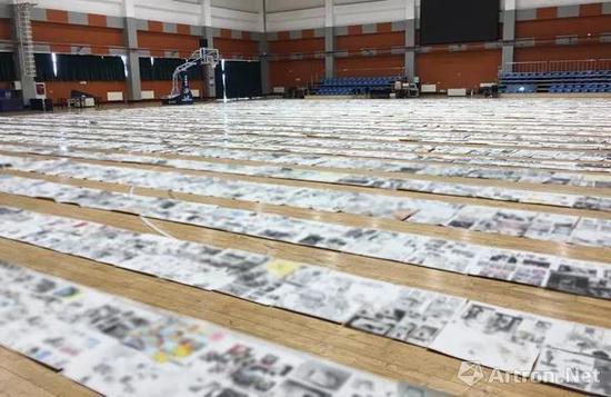 央美2018年招生考试阅卷现场