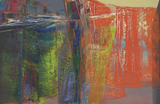里希特《抽象画》260x400cm 1986年私人收藏
