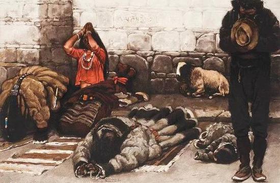 陈丹青 《西藏组画(之一)》