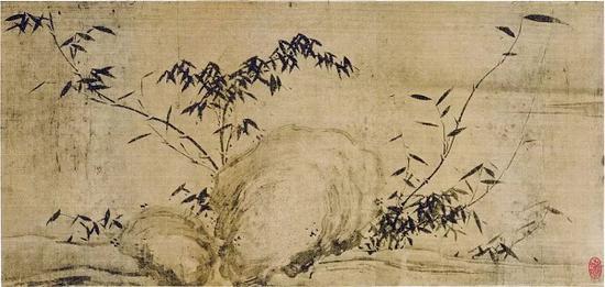 《潇湘竹石图》