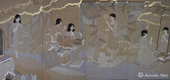 张俊《纸碧的部屋》 天津美术学院中国画学院
