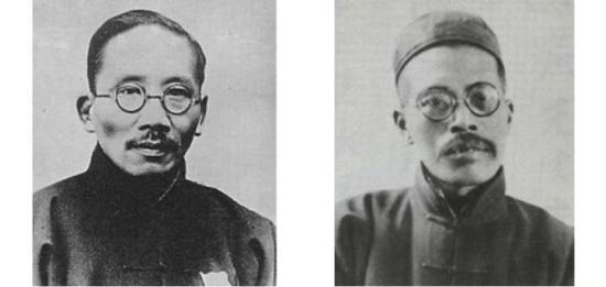 图片来自网络:蔡元培、王国维,同为将美育引入中国的两位先驱。