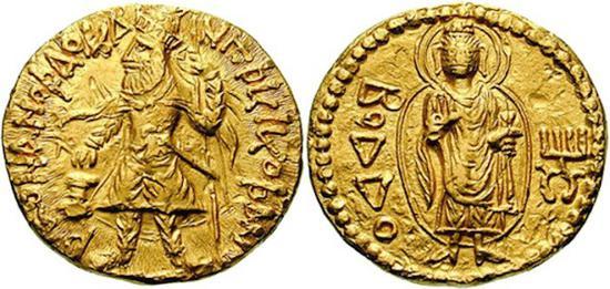 迦腻色伽一世金币