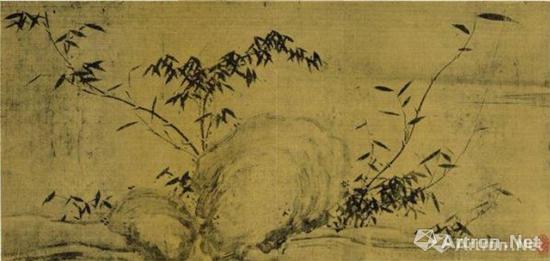 中国美术馆藏 苏轼《潇湘竹石图》