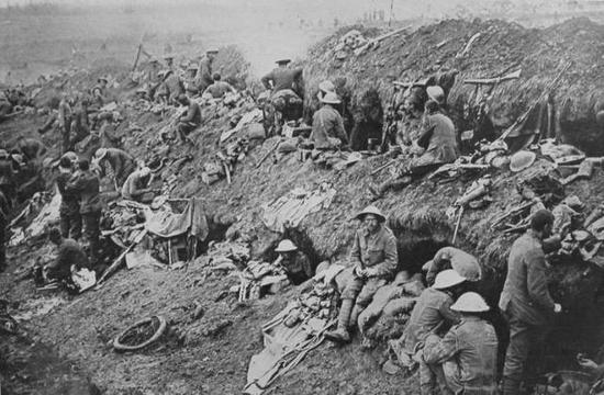 图为一战中的士兵 图片来源:World War One Photos