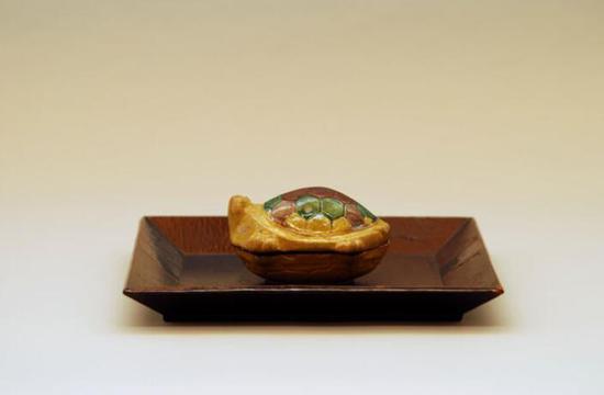 明代交趾大龟香合,中国明代(17世纪)图片来源:藤田美术馆官网