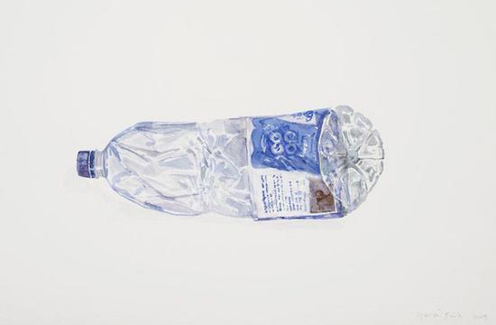 塑料瓶水彩画揭示环境问题