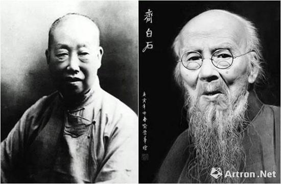 吴昌硕与齐白石