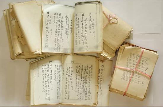 黄宾虹《故宫审画录》手稿复印件及王中秀释读手稿与清样