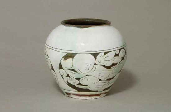 河合 寛次郎制 白釉罐