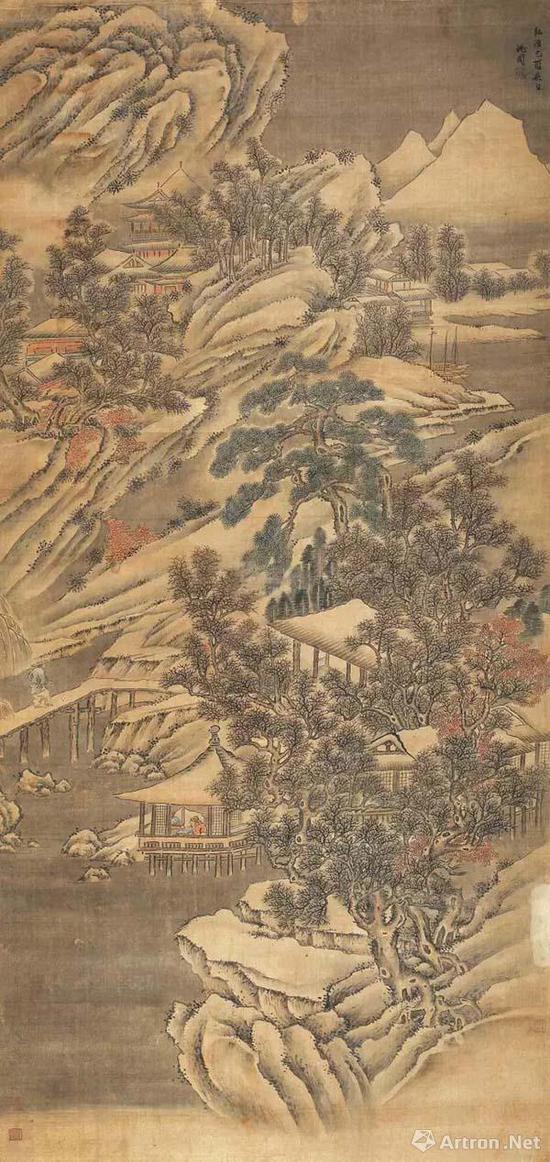 山水 设色绢本 1489年作