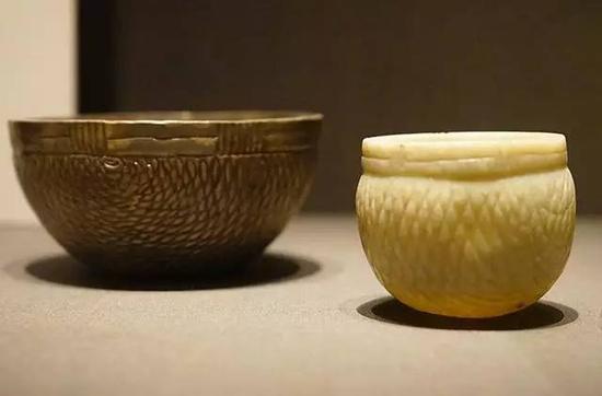 玉碗与银碗 宋,11-12世纪