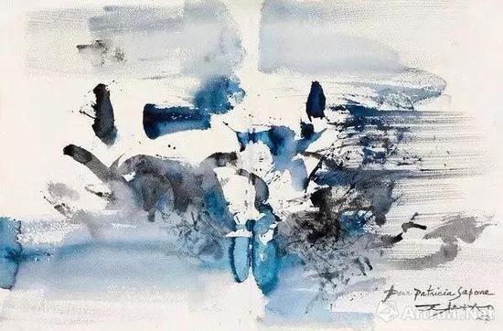 ▲赵无极《构图》,1957