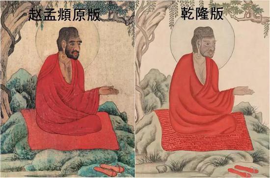 赵孟頫原版叫《红衣罗汉图》,现藏于辽宁省博物馆