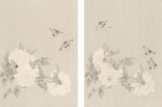 拍品编号240高茜(中国,1973年生) 《游仙窟之五·游仙窟之六》