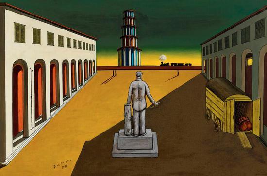 基里科《空旷的意大利广场》