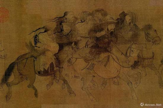 金 张瑀 文姬归汉图 局部 吉林省博物馆藏
