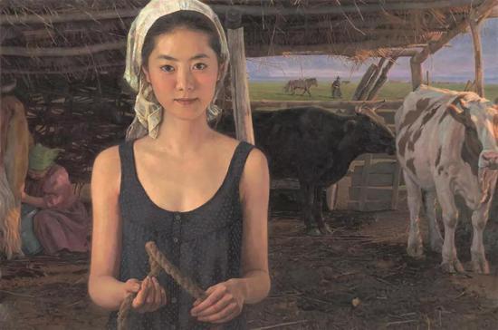 七月晨光 布面油画 107X163cm 2009年