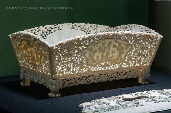 象牙雕天使人物信插(清)东莞市博物馆